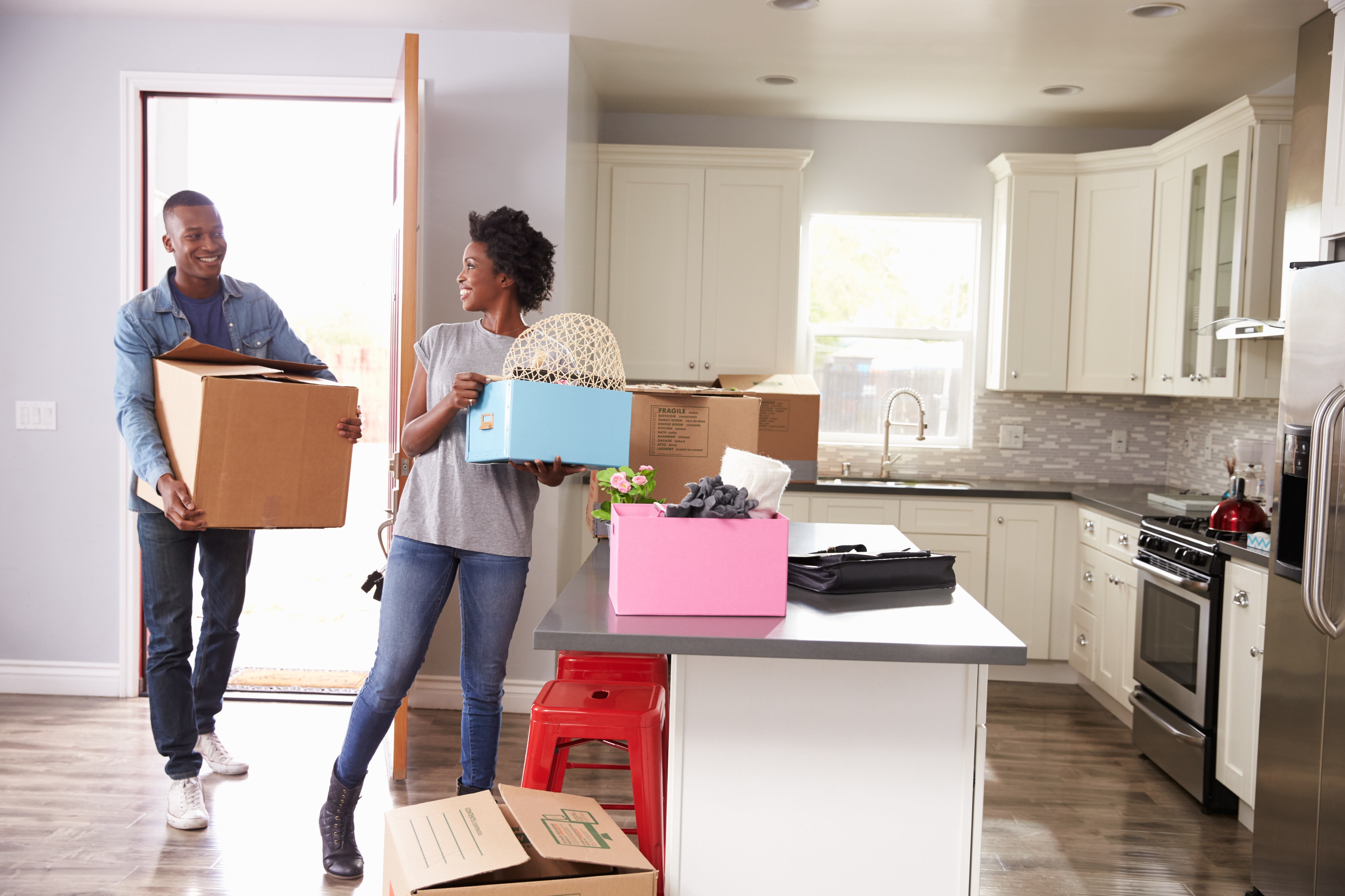 Couple Moving in